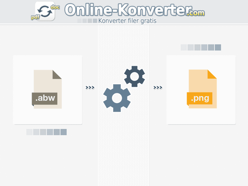 Konverter ABW na PNG online
